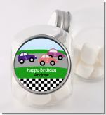 Race Car - Personalized Birthday Party Candy Jar