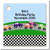 Race Car - Personalized Birthday Party Card Stock Favor Tags