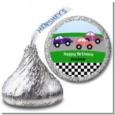 Race Car - Hershey Kiss Birthday Party Sticker Labels