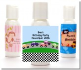 Race Car - Personalized Birthday Party Lotion Favors