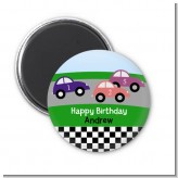 Race Car - Personalized Birthday Party Magnet Favors