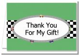 Race Car - Birthday Party Thank You Cards