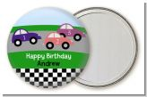 Race Car - Personalized Birthday Party Pocket Mirror Favors