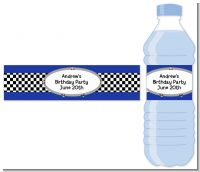 Race Car - Personalized Birthday Party Water Bottle Labels
