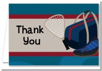 Racquetball - Birthday Party Thank You Cards