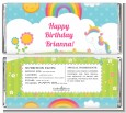 Rainbow Unicorn - Personalized Birthday Party Candy Bar Wrappers thumbnail