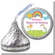 Rainbow Unicorn - Hershey Kiss Birthday Party Sticker Labels thumbnail