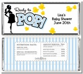 Ready To Pop Blue - Personalized Baby Shower Candy Bar Wrappers