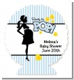 Ready To Pop Blue - Personalized Baby Shower Centerpiece Stand thumbnail