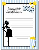 Ready To Pop Blue - Baby Shower Notes of Advice