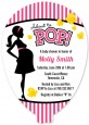 Ready To Pop Dark Pink - Baby Shower Shaped Invitations thumbnail