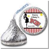 Ready To Pop - Hershey Kiss Baby Shower Sticker Labels
