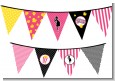 Ready To Pop Dark Pink - Baby Shower Themed Pennant Set thumbnail