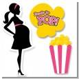 Ready To Pop Dark Pink - Baby Shower Printed Shaped Cut-Outs thumbnail