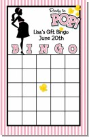 Ready To Pop Pink - Baby Shower Gift Bingo Game Card