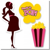 Ready To Pop Dark Pink Brown - Baby Shower Printed Shaped Cut-Outs