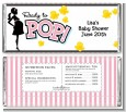 Ready To Pop Pink - Personalized Baby Shower Candy Bar Wrappers thumbnail