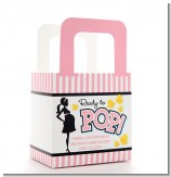 Ready To Pop Pink - Personalized Baby Shower Favor Boxes