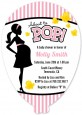 Ready To Pop Pink - Baby Shower Shaped Invitations thumbnail