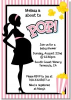 Ready To Pop Pink - Baby Shower Invitations