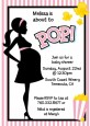 Ready To Pop Pink - Baby Shower Invitations thumbnail