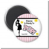 Ready To Pop Pink - Personalized Baby Shower Magnet Favors