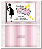 Ready To Pop Pink - Personalized Popcorn Wrapper Baby Shower Favors