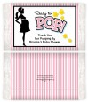 Ready To Pop Pink - Personalized Popcorn Wrapper Baby Shower Favors thumbnail