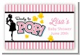 Ready To Pop Pink - Baby Shower Landscape Sticker/Labels thumbnail