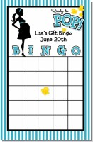 Ready To Pop Teal - Baby Shower Gift Bingo Game Card