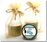 Ready To Pop Teal - Baby Shower Gold Tin Candle Favors