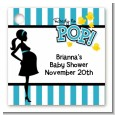 Ready To Pop Teal - Personalized Baby Shower Card Stock Favor Tags thumbnail