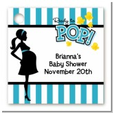 Ready To Pop Teal - Personalized Baby Shower Card Stock Favor Tags