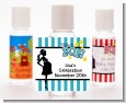 Ready To Pop Teal - Personalized Baby Shower Hand Sanitizers Favors thumbnail