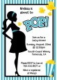 Ready To Pop Teal - Baby Shower Invitations thumbnail