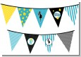 Ready To Pop Teal - Baby Shower Themed Pennant Set thumbnail