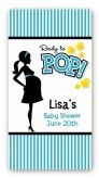 Ready To Pop Teal - Custom Rectangle Baby Shower Sticker/Labels