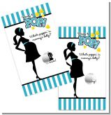 Ready To Pop Teal - Baby Shower Scratch Off Game Tickets
