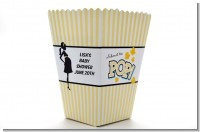Ready To Pop Yellow - Personalized Baby Shower Popcorn Boxes