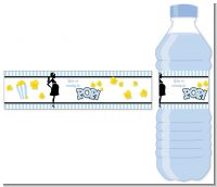 Ready To Pop Blue - Personalized Baby Shower Water Bottle Labels