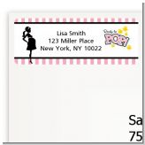 Ready To Pop Pink - Baby Shower Return Address Labels