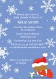 Christmas Baby Snowflakes African American - Baby Shower Invitations thumbnail