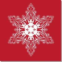 Big Red Snowflake Christmas Theme