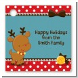 Rudolph the Reindeer - Personalized Christmas Card Stock Favor Tags thumbnail