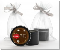 Retro Ornaments - Christmas Black Candle Tin Favors