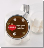 Retro Ornaments - Personalized Christmas Candy Jar