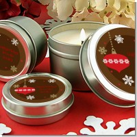 Retro Ornaments - Christmas Candle Favors