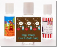 Retro Ornaments - Personalized Christmas Hand Sanitizers Favors
