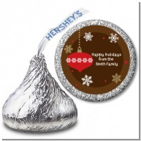 Retro Ornaments - Hershey Kiss Christmas Sticker Labels