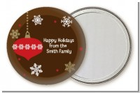 Retro Ornaments - Personalized Christmas Pocket Mirror Favors